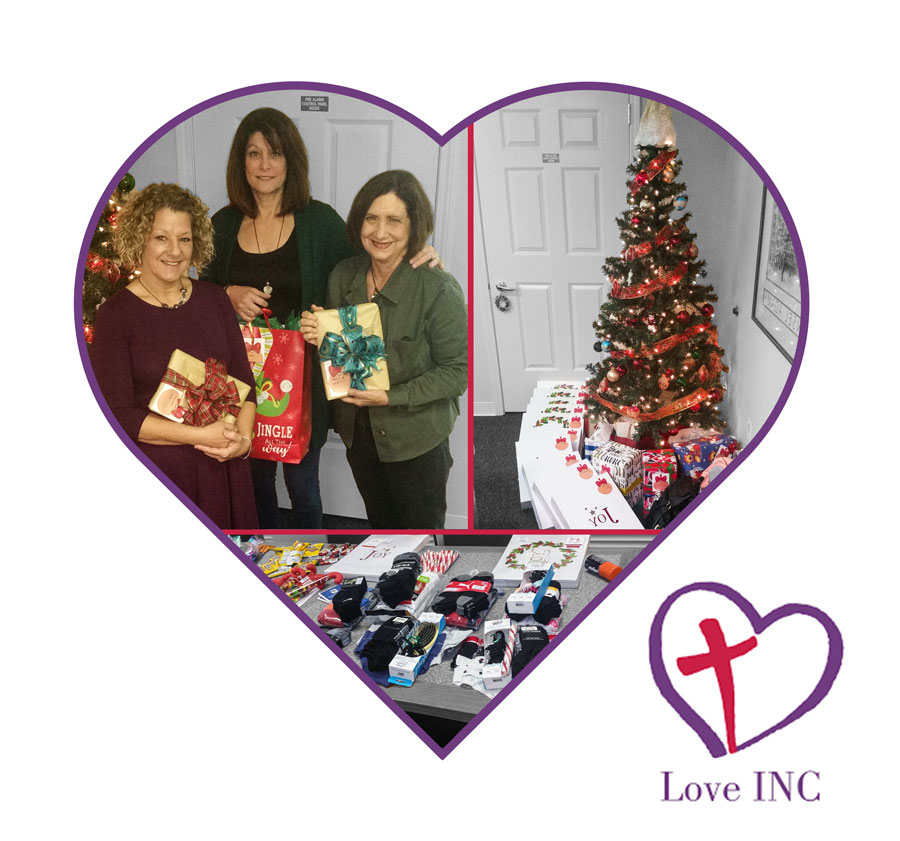 IMG of IW Employees adopting a family at Christmas with Love INC.