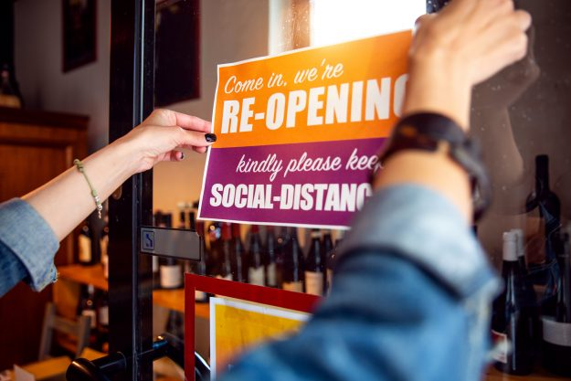 re-opening of business