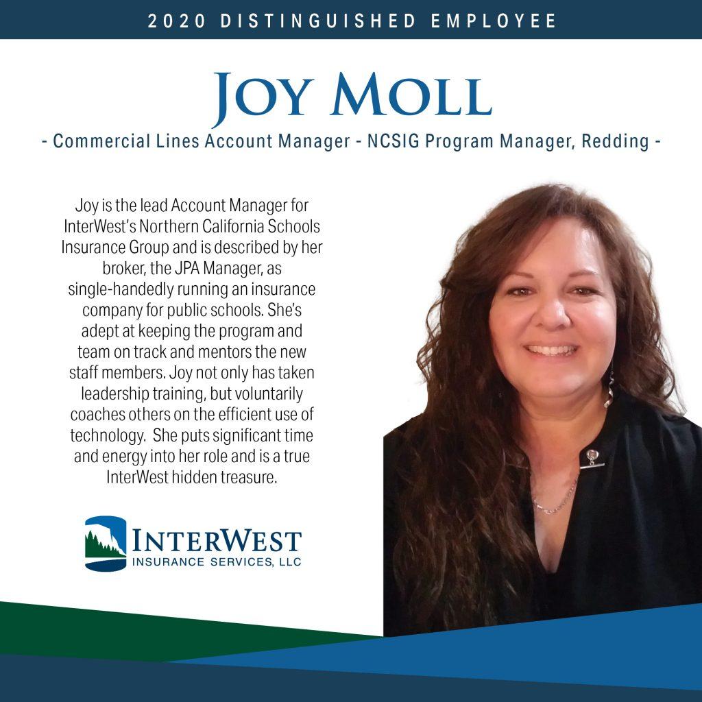 Distinguished Employee Spotlight - Joy Moll