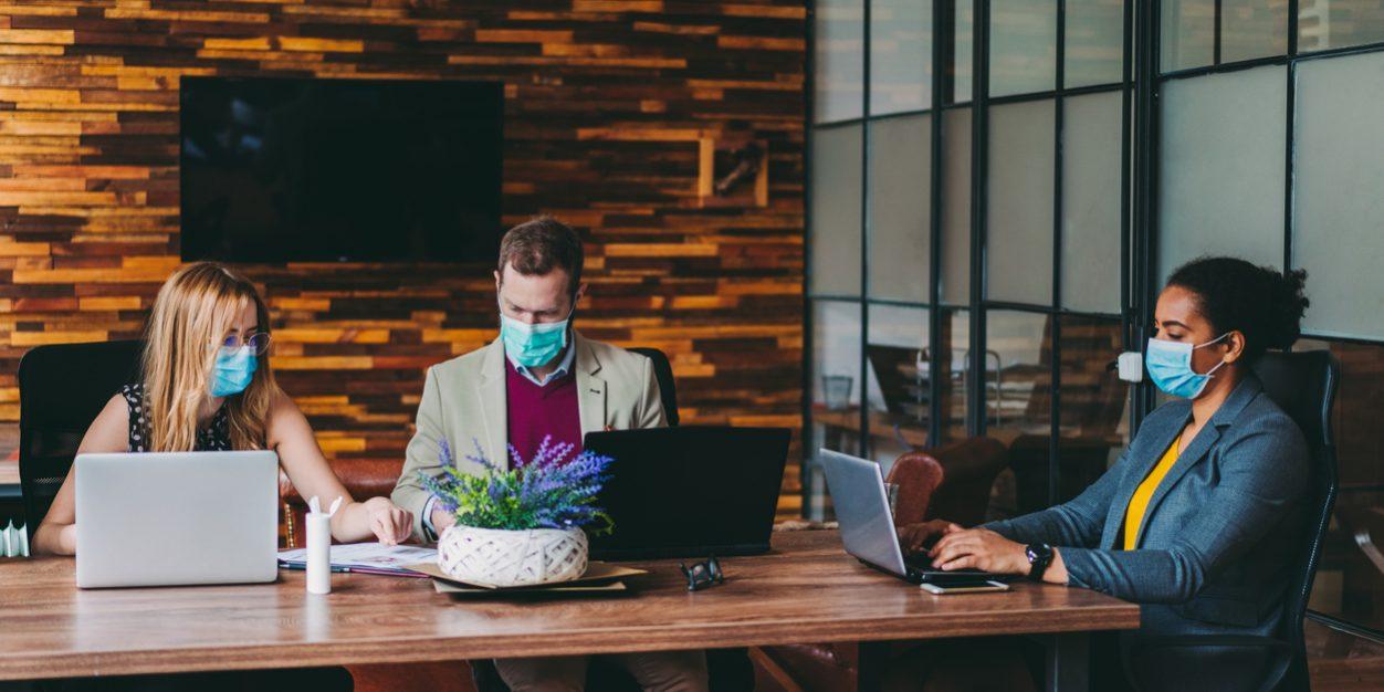 mask at work social distancing